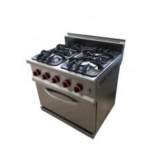 SGR-7020 Gas Range, Four Open Burner + Oven