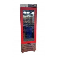 CPG-101-K Upright Gastronorm Refrigerator - 1 Glass Door Red