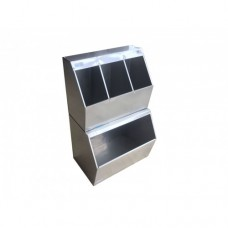 KGB-60- Stainless Steel Wall Fixed Dust Been, Cap, Galosh and Mask Cabinet