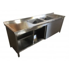 KE-245 Cabinet Washing Sink,  Two Centered Bowl