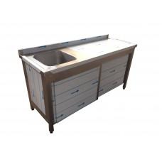 KTE-165 Washing Sink - One Bowl, Sliding 2 Doors